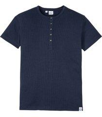 maglia serafino a maniche corte (blu) - john baner jeanswear