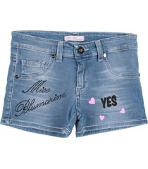miss blumarine denim shorts