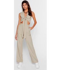 womens perfect pair high-waisted wide-leg pants - sage