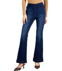 inc international concepts plus size pull-on flare-leg jeans, created for macy's