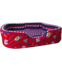 cama para perros tipo cuna mediana -roja