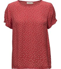 allison short sleeve blouse t-shirts & tops short-sleeved orange cream
