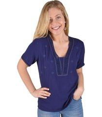 blusa azul  alexandra cid