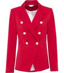 blazer con bottoni dorati (rosso) - bodyflirt boutique