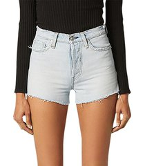 hudson women's cara high-rise cut-off denim shorts - out numbered - size 23 (00)