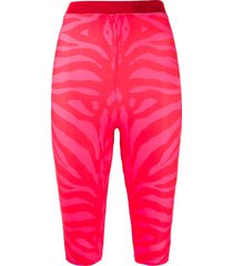 atu body couture animal print legging shorts - pink