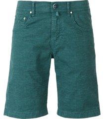 checked cotton bermuda shorts