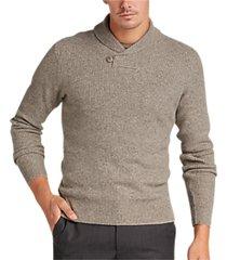 joseph abboud driftwood button shawl sweater