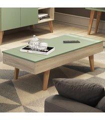 mesa de centro basculante leaves 1002 aveiro/verde - bentec