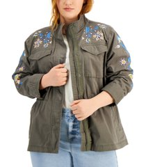 style & co plus size embroidered jacket, created for macy's