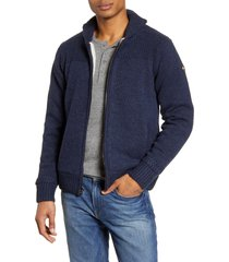 schott nyc lined wool zip sweater, size xx-large in navy at nordstrom