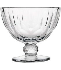 jogo de taças pasabahce para sorvete diamond pasabahce em vidro 280ml 9,5cm transparente com 2 peças