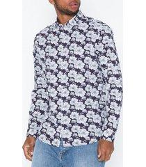 premium by jack & jones jprluca print shirt l/s pre skjortor mörk lila