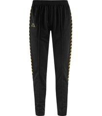pantalón kappa astoria - negro/dorado