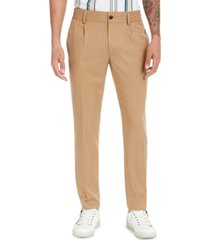 inc men's asher pleated slim-fit pinstripe pants, created for macy's