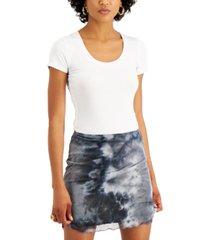 just polly juniors' printed mesh mini skirt