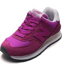 tenis lifestyle violeta-blanco new balance classics traditionnels 574