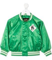 mini rodini panther baseball jacket - green