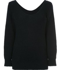 comme des garçons pre-owned ribbed fitted sweater - blue