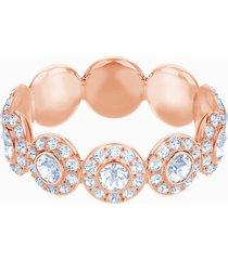 anello angelic, bianco, placcato oro rosa