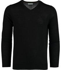 bos bright blue cas v-neck pullover flat knit 19305ca21bo/990 black