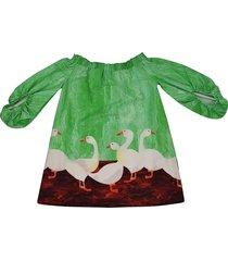 stella jean geese print dress