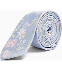mens light blue floral tie