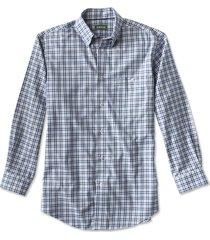 hidden-button-down wrinkle-free cotton twill shirt / regular