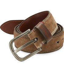 suede & leather belt