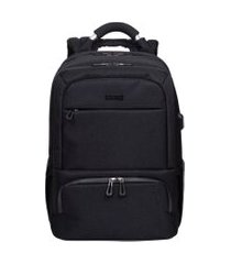 mochila grande 2 compartimentos cabo alumínio sestini techno  preto