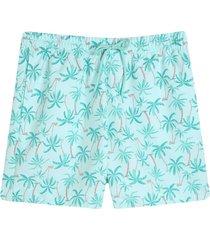 bermuda para hombre playa palmeras color azul,talla xl