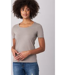 basic dames t-shirt met ronde hals