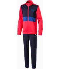 boys' track suit, rood, maat 104   puma