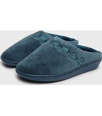 pantufla slipper clásica azul lady genny