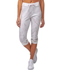 marc new york performance women's tie-dyed french terry cropped pants - lilac combo - size l