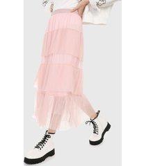 falda rosado paris district