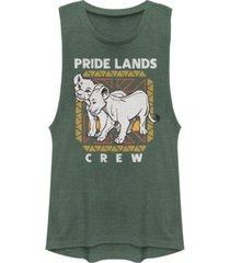 disney juniors' lion king pride lands crew festival muscle tank top