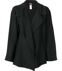 kenzo pre-owned wide lapels loose jacket - black