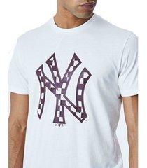 t-shirt korte mouw new-era camiseta para hombre mlb infill logo tee york