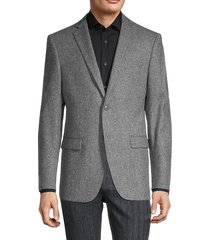 john varvatos star u.s.a. men's heathered wool blazer - grey - size 44 r
