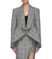'veneration' pinned waist detail checker blazer