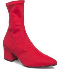 mya shoes boots ankle boots ankle boot - heel röd vagabond