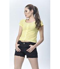 blusa dama amarillo di bello jeans ® calssic blouse ref b192