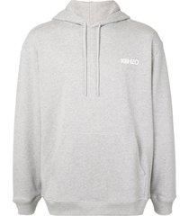 kenzo x vans floral-print hoodie - grey