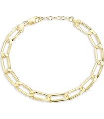 chloe & madison women's 18k paperclip chain bracelet