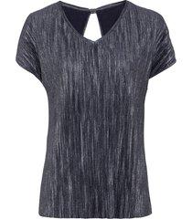 maglia plissettata (blu) - bodyflirt