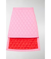 burberry asymmetric diamond quilted skirt