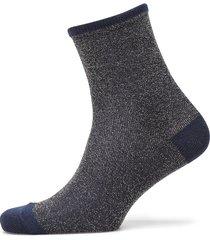 dina solid coll. lingerie hosiery socks blå becksöndergaard
