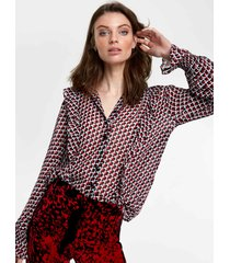 alix the label 205952695 ladies woven graphic star chiffon blouse