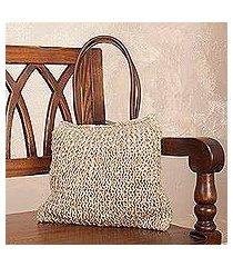 jute shoulder bag, 'essential beauty' (peru)